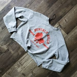 Divided cropped sweater